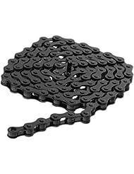 """Cadenas Cadena De Bicicleta De Pista BMX Artes Fijos De Una Sola Velocidad 1/2 \ """"x 1/8 \"""" - Negro, XL"""