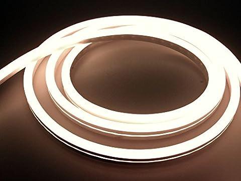 LEDU NeonFlex Pro230 warmweiß (Länge: 3m, 230V LED-Streifen, Neon-Flex LED-Stripe ohne Lichtpunkte, durchgängig leuchtend, 9W/m, EEK: A, Anschluss: Eurostecker)