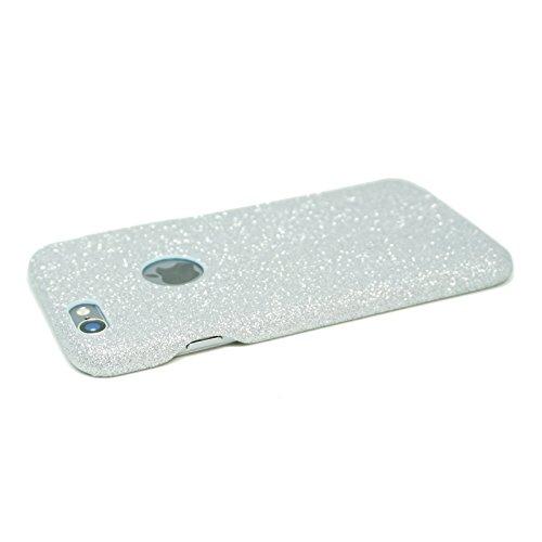FINOO | iPhone 6 / 6S Plus Glitzer Handy-hülle | Glänzende Bling Bling TPU Bumper Case | Weiche Soft Diamond Schutzhülle | Rosa Silber