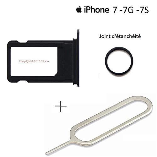 Schublade Dichtung (126 l. für Handy Apple iPhone 7 Schublade Nano schwarz Jet + Dichtung + Schlüssel Pin-SIM-Karte)