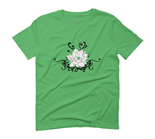 Lotus Blossom Men's Graphic T-Shirt - Design By Humans Green