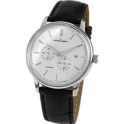 Jacques Lemans Nostalgie Gents Automatic Black Leather Strap Watch N-210A