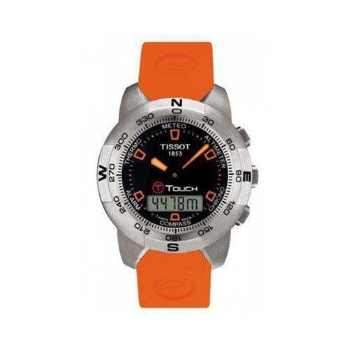Orologio Tissot Uomo T0474201705101 Al quarzo (batteria) Acciaio Quandrante Nero Cinturino Silicone