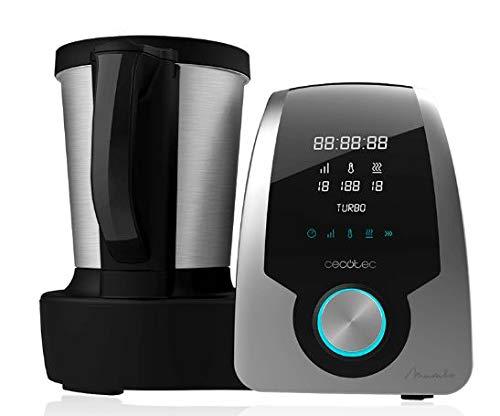 Cecotec Mambo Silver - Robot de Cocina multifunción, pantalla digital, jarra de acero inoxidable de 3,3l, 10 velocidades
