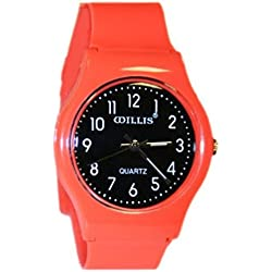 Girls Boys Children Plastic Red Wrist Time Keeper
