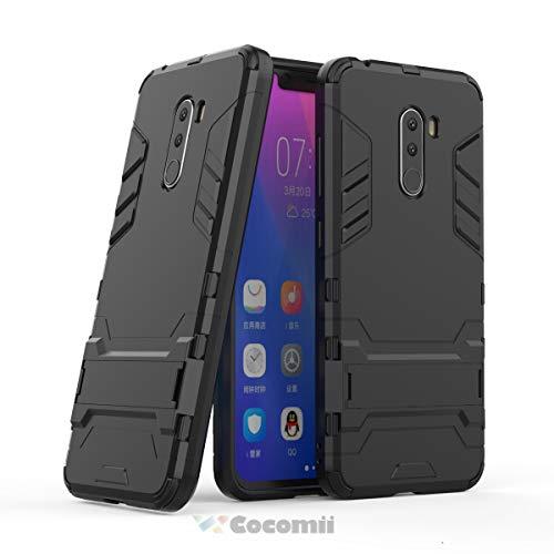 Cocomii Iron Man Armor Xiaomi Mi F1/Pocophone F1/Poco F1 Hülle NEU [Strapazierfähig] Taktisch Griff Ständer Stoßfest Gehäuse [Militärisch Verteidiger] Case Schutzhülle for Xiaomi Mi F1 (I.Jet Black)
