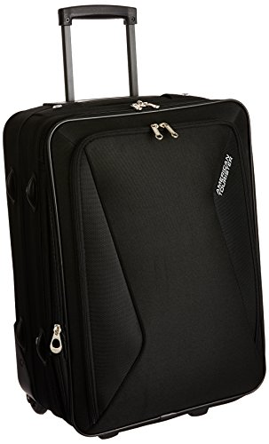 American Tourister Columbia Polyester 55 cms Black Softsided Carry-On (AMT COLUMBIA UR 55CM BLACK)