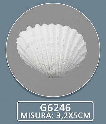 Confezione 72 pezzi, bomboniera gessetto, colore bianco. segnaposto confettata nascita battesimo comunione matrimonio (conchiglia)