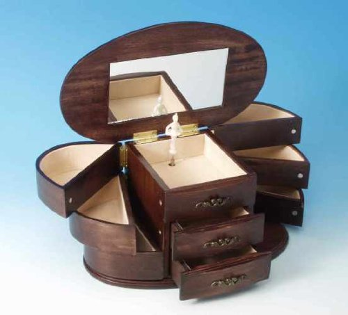 Mmm gmbh, il mondo dei carillon, 16085 carillon cofanetto portagioie in legno, il regalo ideale per molte occasioni come compleanno, battesimo, come oggetto da collezione per gli amanti della musica, come souvenir, bomboniere, sorpresa ?..