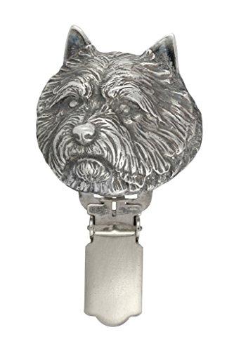 Norwich Terrier, Silberstempel 925, Hund clipring, Hundeausstellung Ringclip/Rufnummerninhaber, limitierte Auflage, Artdog