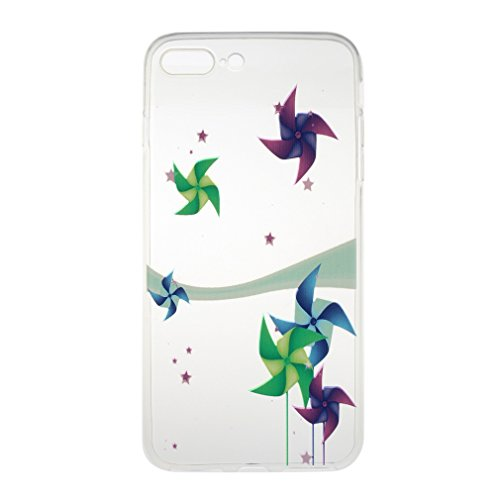 SZHTSWU® Hülle für iPhone 6 Plus / 6s Plus, Ultra Slim Thin Weiche TPU Ultradünn Soft Silikon Schutzhülle Case Transparent Clear Flexible Rückschale Back Cover Etui Handy Hülle Bumper für Apple iPhone Windmühle