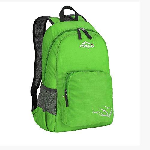 Multifunktionale Leicht Schulter Tasche Lässige Kleidung Reise Rucksack 25L Green