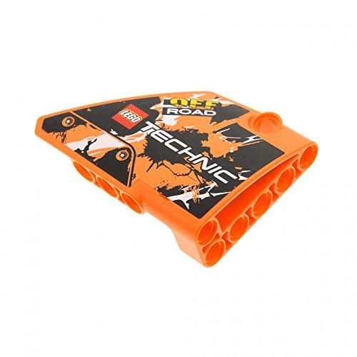 Preisvergleich Produktbild 1 x Lego Technic Panele orange Verkleidung 14 Seite B gross kurz glatt Fairing # 14 Side B mit Sticker für Set Motorrad 42007 64680