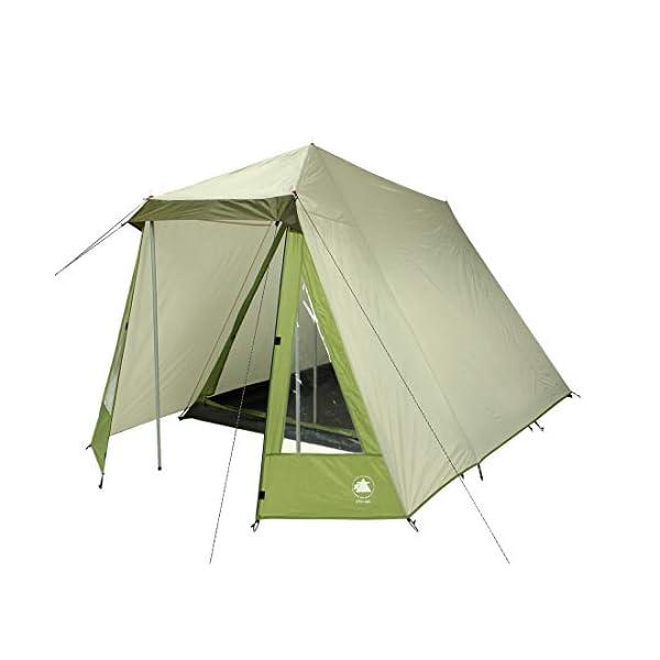 10T Outdoor Equipment Waterproof Kuranda Unisex Outdoor Frame Tent available in Grey - 3 Persons 1