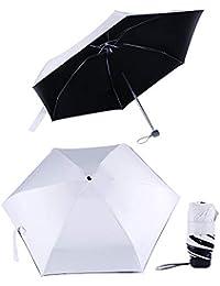 Queta - Paraguas Ultraligero y Plegable, Doble Protector Solar con protección UV UPF 50+, Resistente al Agua para Adultos y niños, as Shown 2
