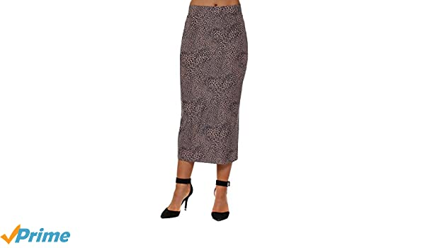 A Postcard From Brighton Leona Little Leopard Midi Skirt In Tawny