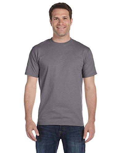 hanes-maglietta-di-beefy-a-maniche-corte-per-uomo-noir-graphite-large