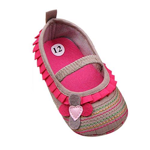 Xiangze Bebe ninas cuna suave Floral zapatos
