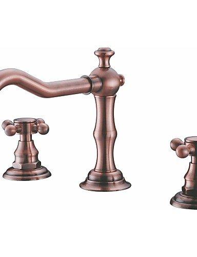 Inspiriert Badewanne (SZ Deck Mount Badewanne Wasserhahn 2Griffe langer Auslauf Antik inspiriert massivem Messing Badezimmer Waschbecken und Badewanne Mischarmaturen)