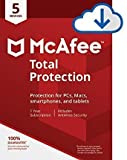 Mcafee Total protection 5 Devices 2018 (Download link and activation key via Amazon Message in 1 hour of purchase)