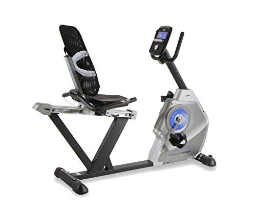 BH Fitness COMFORT ERGO PROGRAM H857 Komfortabler Liegeergometer, Liege-Ergometer, 12 Programme, 10 kg Schwunggewicht, 32 Intensitätsstufen, mit Pulsmessung, Ideal für Senioren