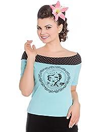 Hell Bunny T-Shirt Top Femme - True Blue Top