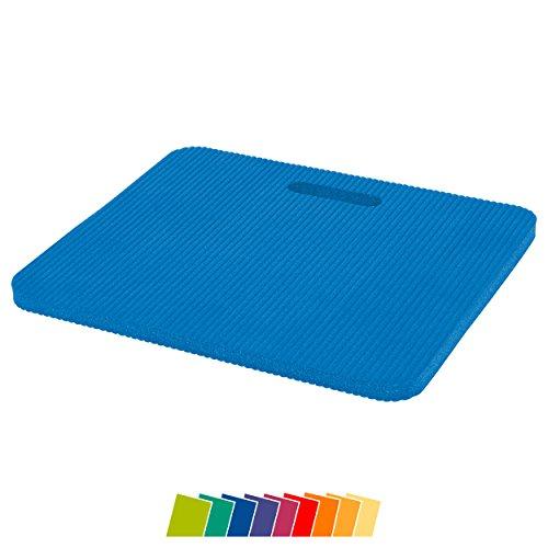 Sitzkissen Mittel 34x29x1,5 Gymnastik Kissen Kniematte Farbe: blau