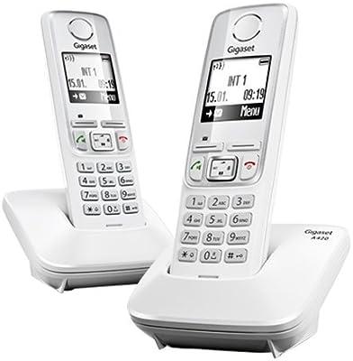 Gigaset A420 - Teléfono fijo, color blanco