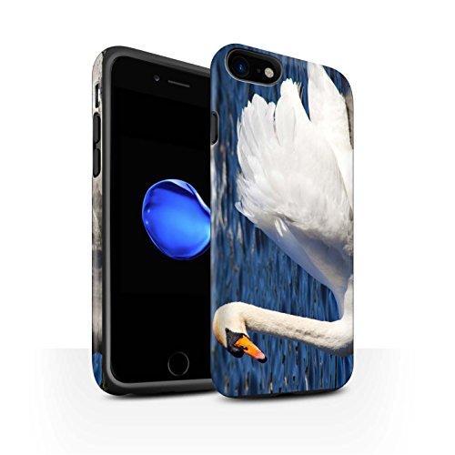STUFF4 Matte Harten Stoßfest Hülle / Case für Apple iPhone 7 / Pack 16pcs / Britischen Küste Kollektion Schwan