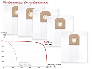 5x Sac-filtre tissus pour aspirateur Nilfisk Multi 20 (CR, Inox, T Inox), Multi 30