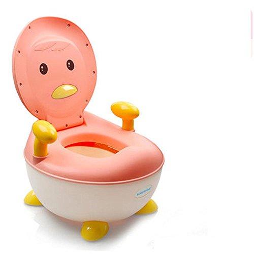 NSHK Toilette pour tout-petits Toilette Cartoon Chaise Toilette Siège Enfant Potty Formation Toilette Toilette Toilette Toilette avec Splash Guard et poignées pour les tout-petits , pink