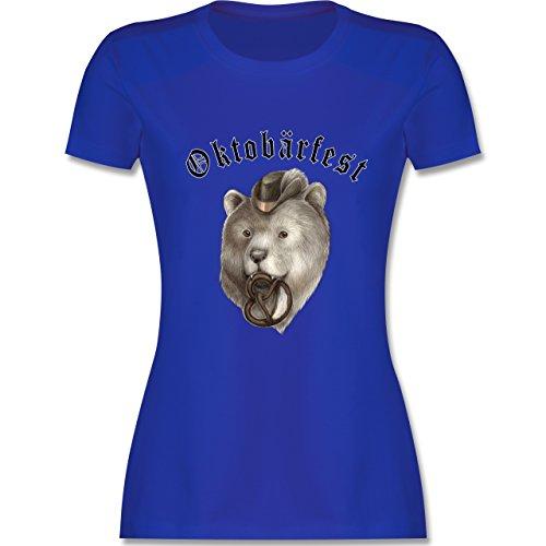 Oktoberfest Damen - Oktobärfest - tailliertes Premium T-Shirt mit Rundhalsausschnitt für Damen Royalblau