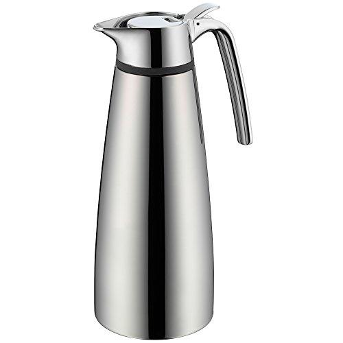 WMF Concept Thermokanne, 1,0 l, Cromargan Edelstahl poliert, Kanne für Tee oder Kaffee, Klappverschluss, hält Getränke 12h warm und 24h kalt
