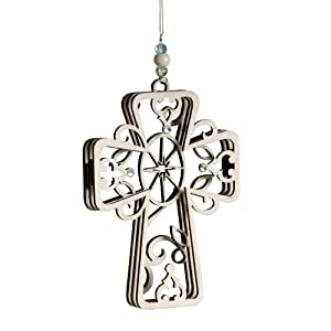 Flourish Cross Hanging Ornament