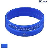 Lorh's store NBA Basketball Dirk Nowitzki Armband Nummer 41 Silikon Sport Schweißbänder 2 Pcs
