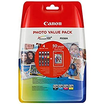 Canon (4540B017) Ink Cartridge, Black, Multipack with Photo Paper ...