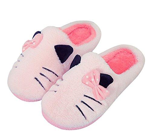 Plüsch-hausschuhe Katze (Plüsch Hausschuhe Winter Indoor Pantoffeln Wärme Weiche Leicht Cartoon Katze Plüsch Slippers für Herren und Damen)