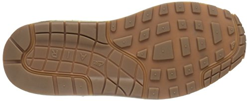 Nike Wmns Air Max 1 Essential, Chaussures de Sport Femme, Taille Light Bone-Sail-Gum Medium Brown-Brigade Blue