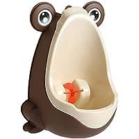 Hkwshop Urinario de Emergencia Rana Potty Training for urinarios for los niños con el Objetivo de Destino Divertido montado en la Pared Urinario - Verde/Azul/Brown Inodoro Masculino portátil