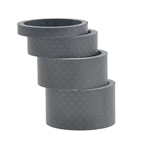 1 1 8 Full de fibra de carbono 3 K Mate Espaciador Auriculares Tenedor Arandela 5 mm 10 mm 15 mm 20 mm