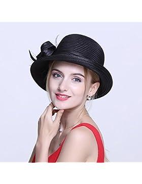 HONEY Sombreros De Las Señoras De Las Mujeres Verano Cúpula Pequeña Bowler  Compras Sombrero De Visera Viajar...