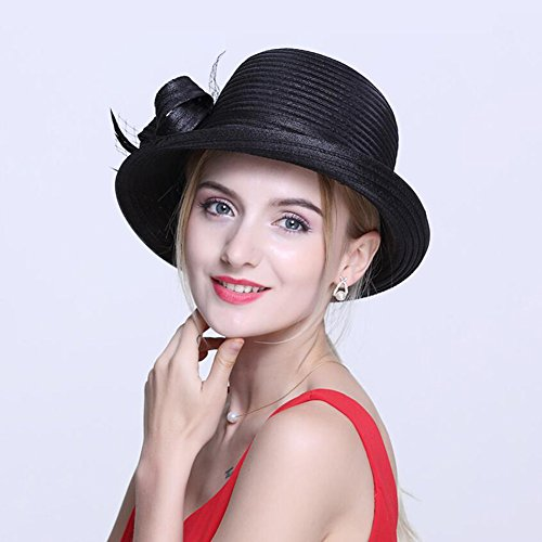 HONEY Damen Hüte Women's Summer Dome Kleine Bowler Shopping Visier Hut Reise Feiertag ( Farbe : Schwarz ) (Womens Kleine Floppy-hut)