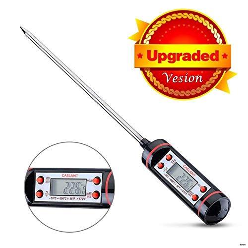 Caslant Termometro Digitale da Cucina [Garanzia a Vita] con Lunga Asta e Schermo LCD per Manzo,Pollo,Gambero,Verdure,BBQ ecc