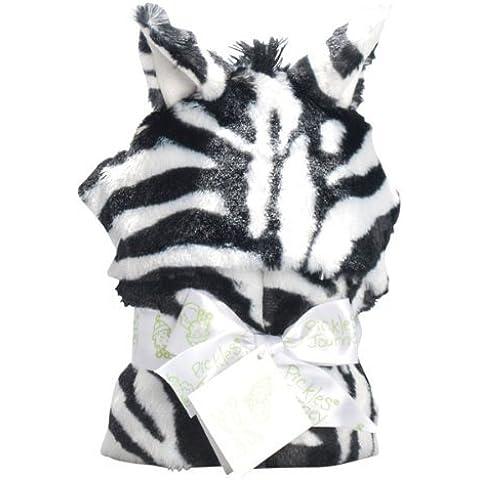 Zebra Faux Fur Hooded Wrap Blanket by Pickles Journey