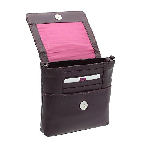 Mala In Pelle, Borsa A Spalla Da Donna, Rosa Confetto (rosa) - 7106_40 Plum Spot