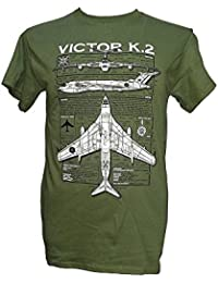 Handley Page Victor / Military T Shirt with blueprint design