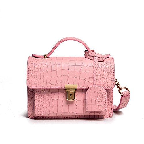 Syknb Kleine Tasche Crossbody Tasche Kette Netzsacks Pink