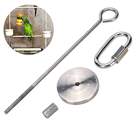 Eshylala Bird Fruit Skewer, Small Animal Parrot Stainless Steel Fruit Vegetable Holder, 4.7 inches