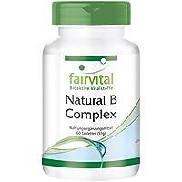Natural B-Complex aus natürlicher Quelle (Hefe) - für 2 Monate - VEGAN - 60 Tabletten - mit Cholin und Inositol preisvergleich bei billige-tabletten.eu