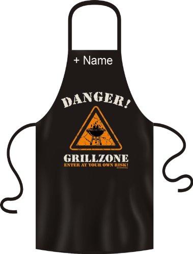 Fun Zone mètres – Danger. Barbecue – Tablier de barbecue avec le nom de désir